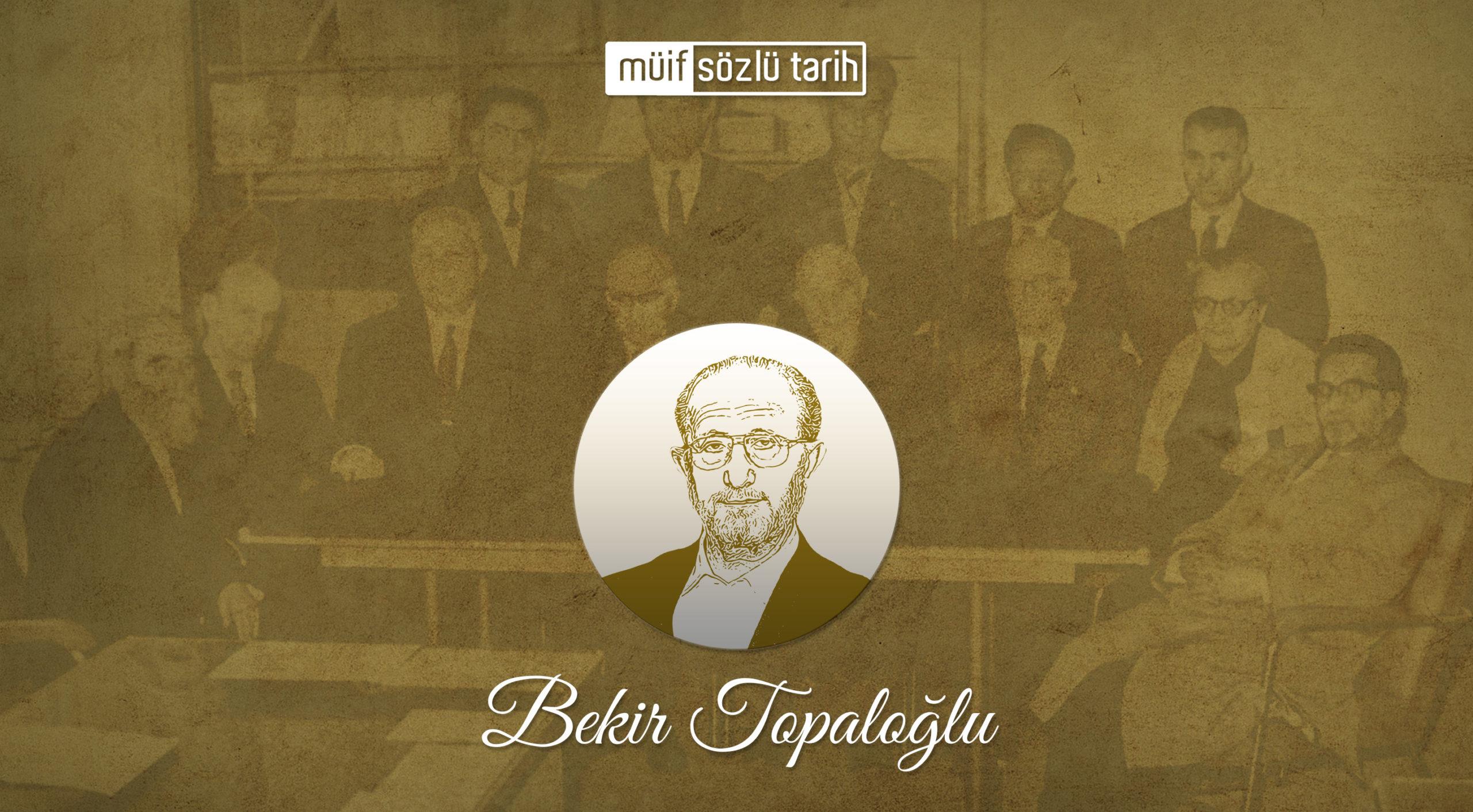 Prof. Dr. Bekir Topaloğlu